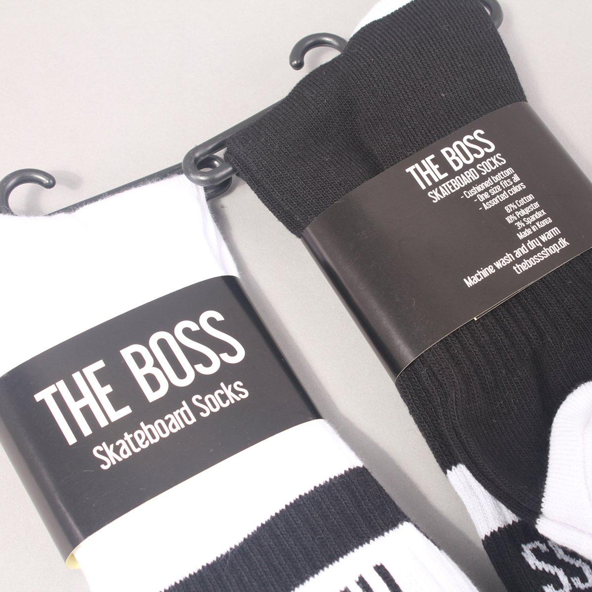 The Boss Logo Socks 2 Pack - White/Black & Black/White
