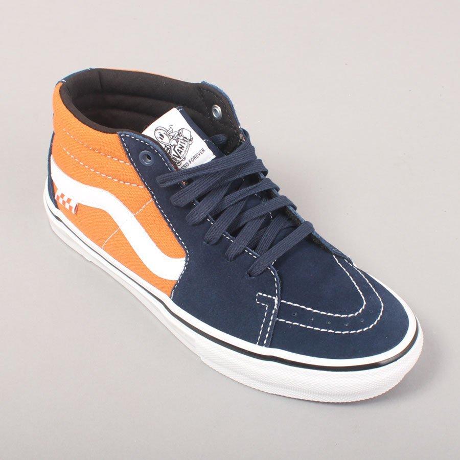 Vans Skate Grosso Mid - Navy/Orange