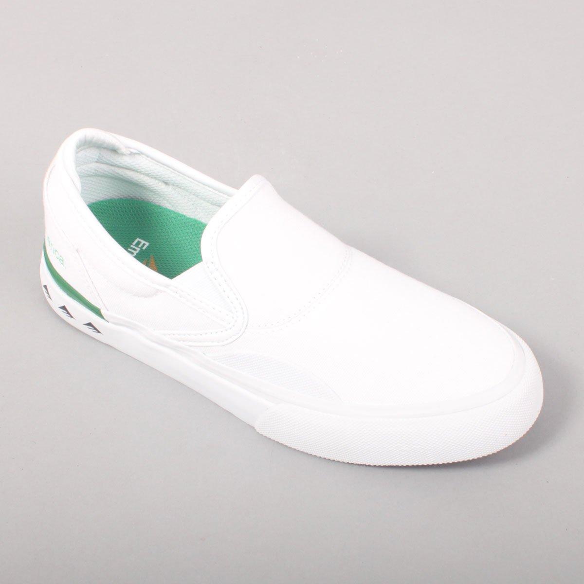 Emerica Wino G6 Slip On - White/Green