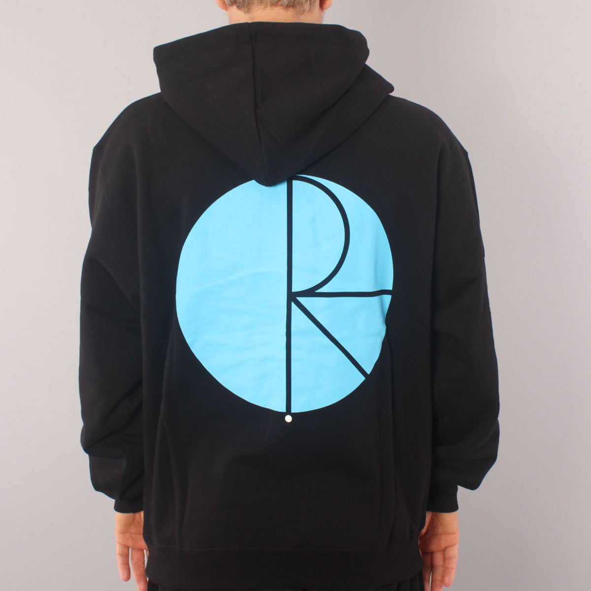 Polar Skate Co Fill Logo Hoodie - Black/Blue