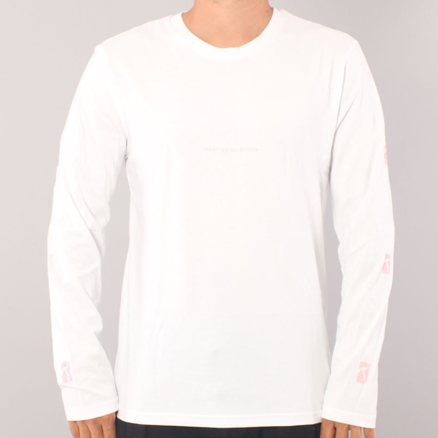 Poetic Collective Logo LS t-shirt - White/Pink