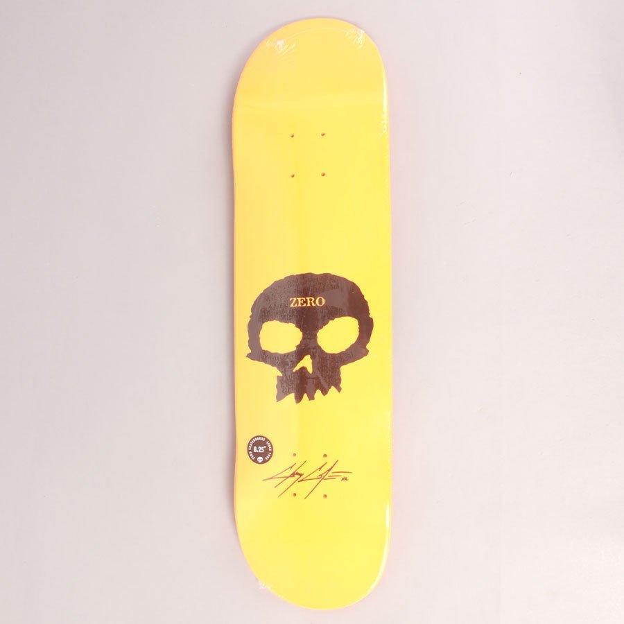 "Zero Cole Signature Skull Orange Skateboard Deck - 8,25"""