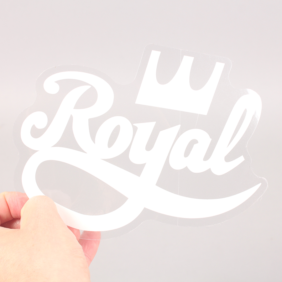 Royal Trucks Logo Sticker - White