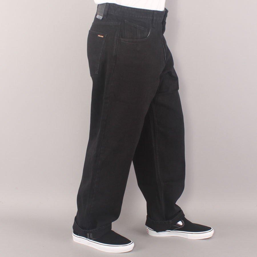 "Volcom Billow Denim 19"" Baggy Pants - Black"