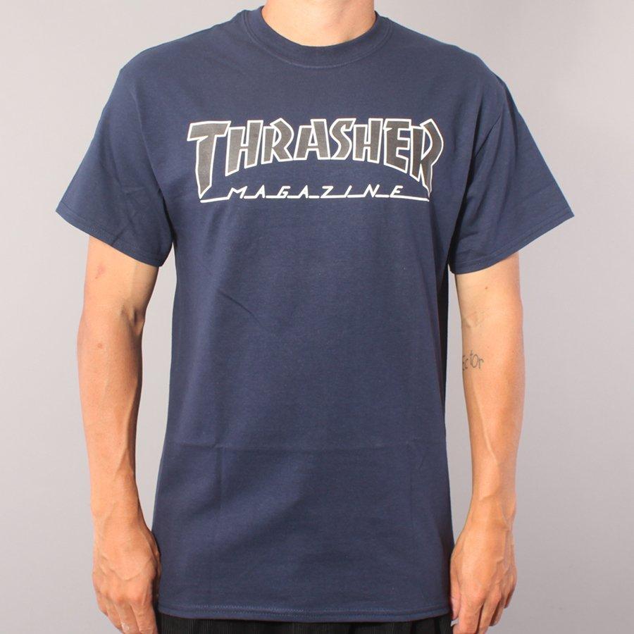 Thrasher Skate Mag Outlined T-shirt - Navy