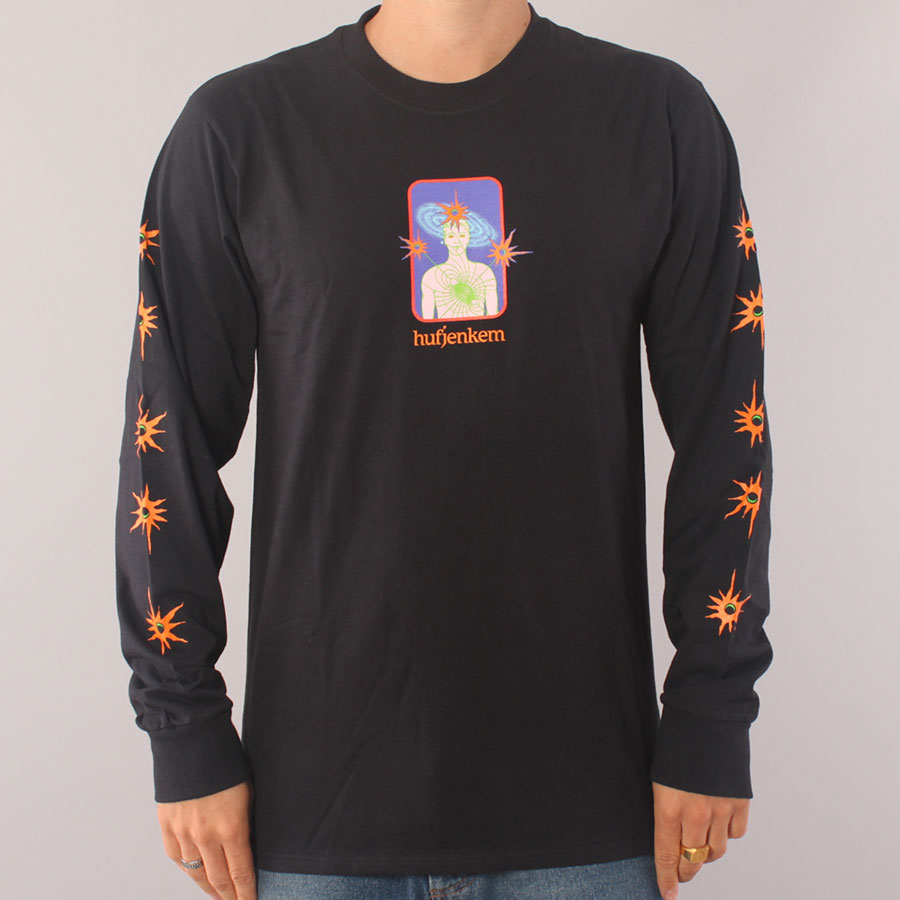 HUF x Jenkem Final Boss LS T-shirt - Black