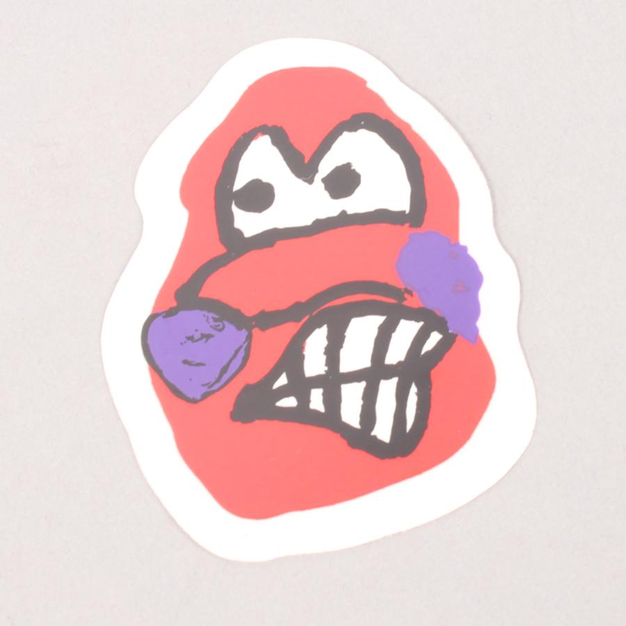 Polar Dane Face Sticker Small - Red