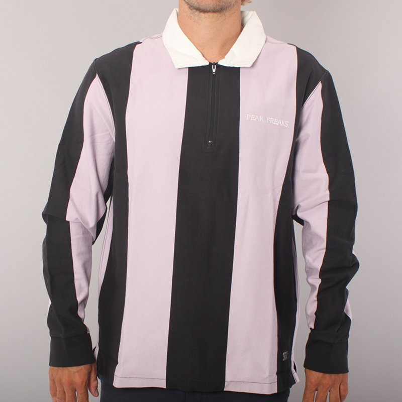 Levi's Skateboarding Freaky Rugby LS T-shirt - Black/Pink/White