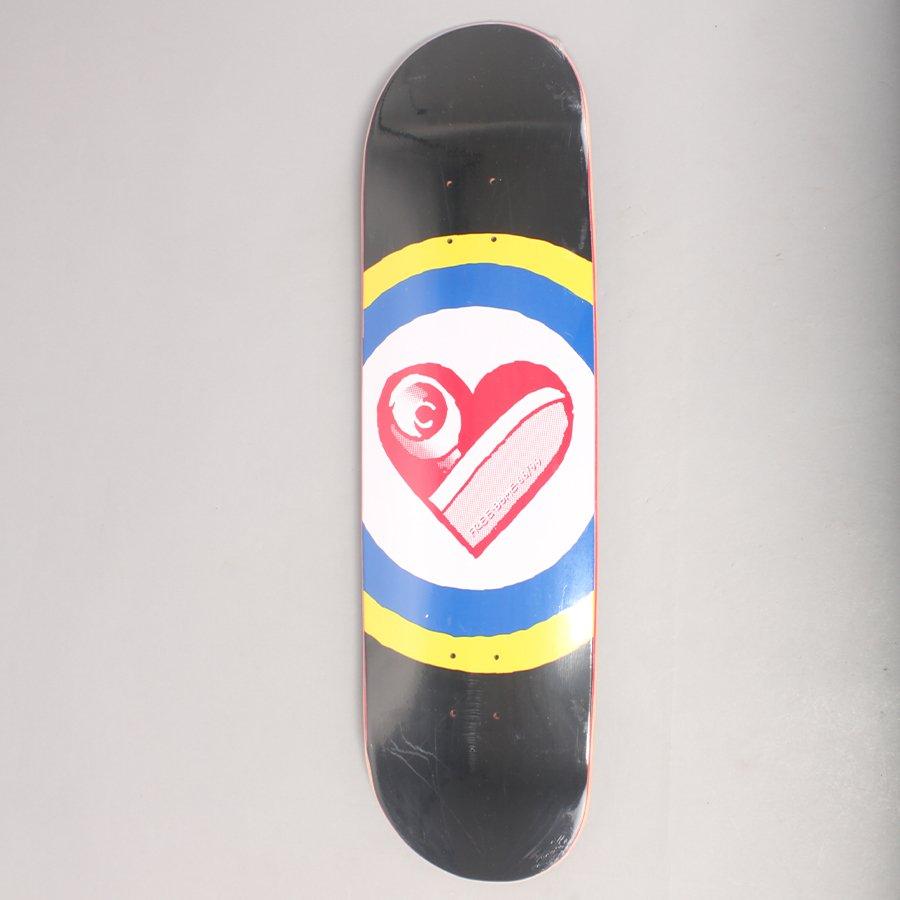 "Free Dome Skate Heart Black Skateboard Deck - 9,0"""