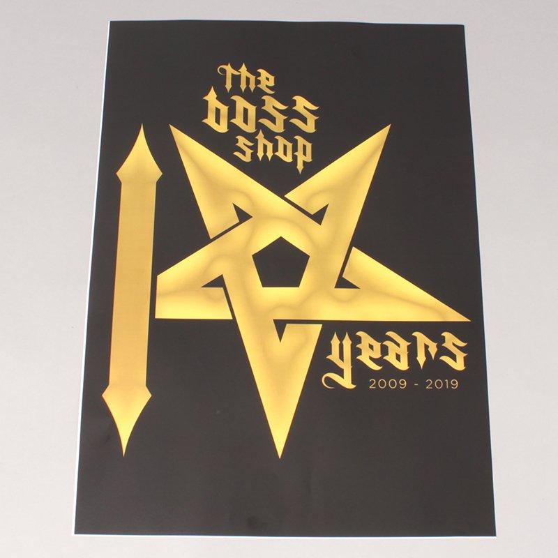 The Boss 10 Year Logo Plakat A2