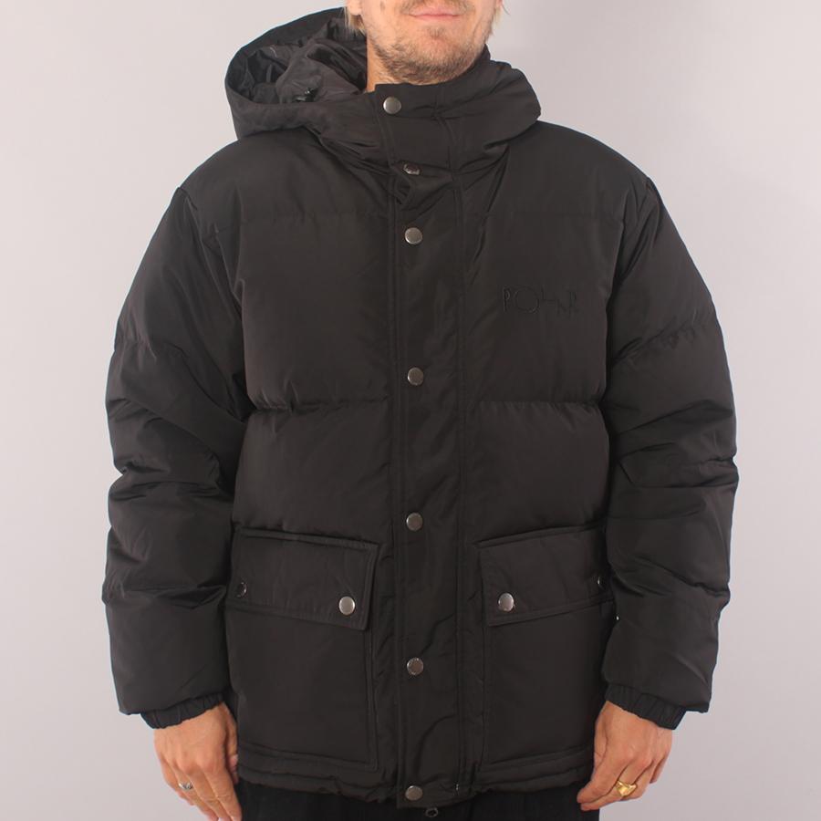 Polar Skate Co Hood Puffer Jacket - Black