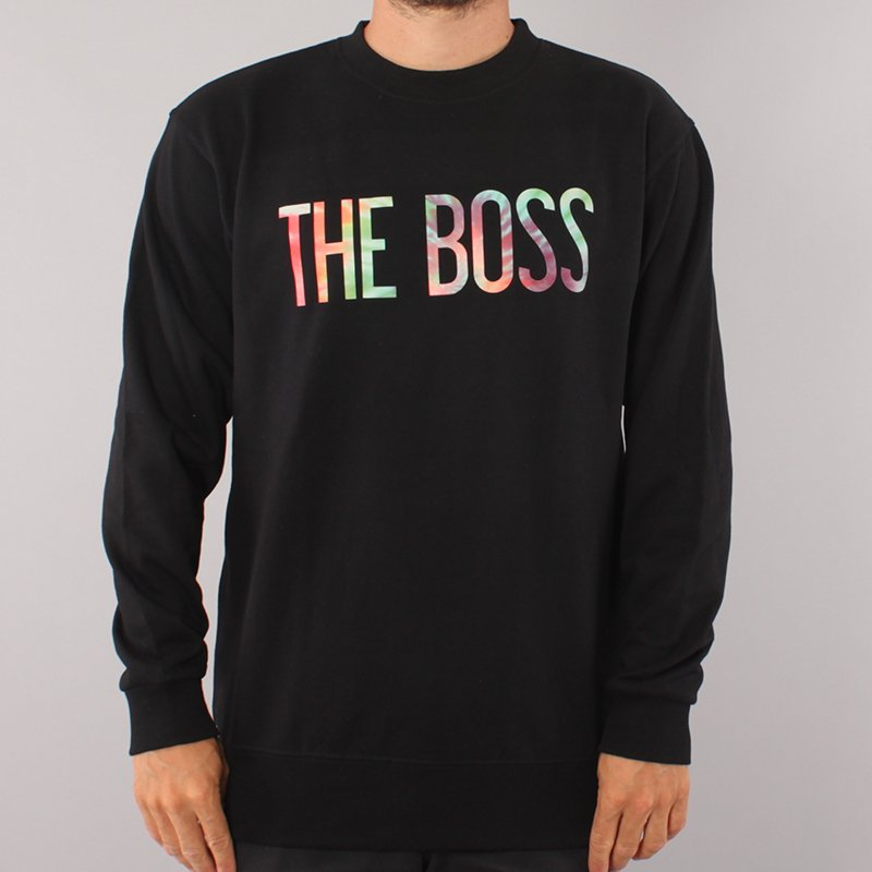 The Boss Tie Dye Logo crewneck - Black