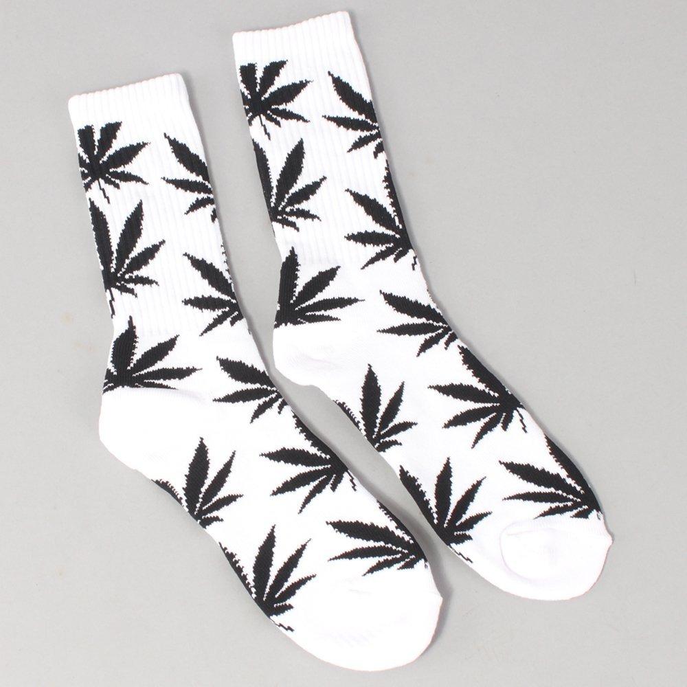 Huf Plantlife Crew Socks - White/Black