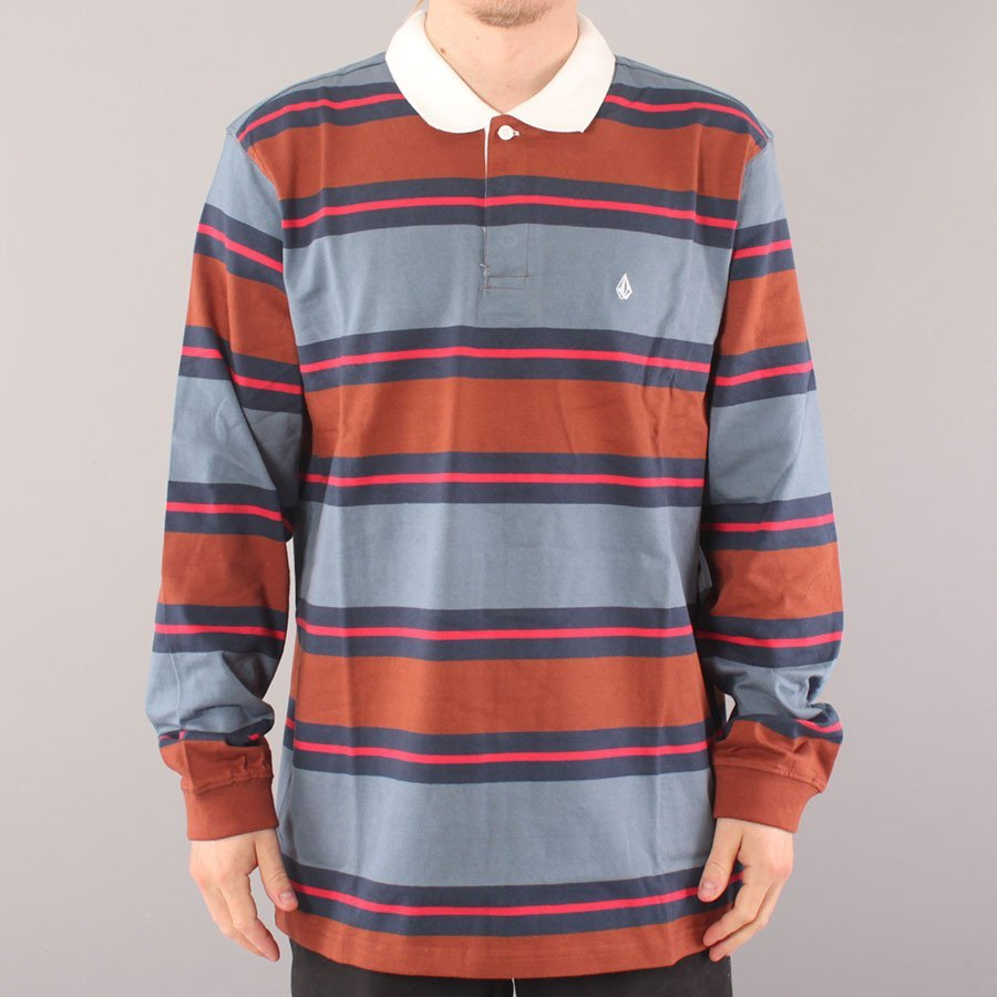 Volcom Sumpter Polo LS - Charcoal/Brown