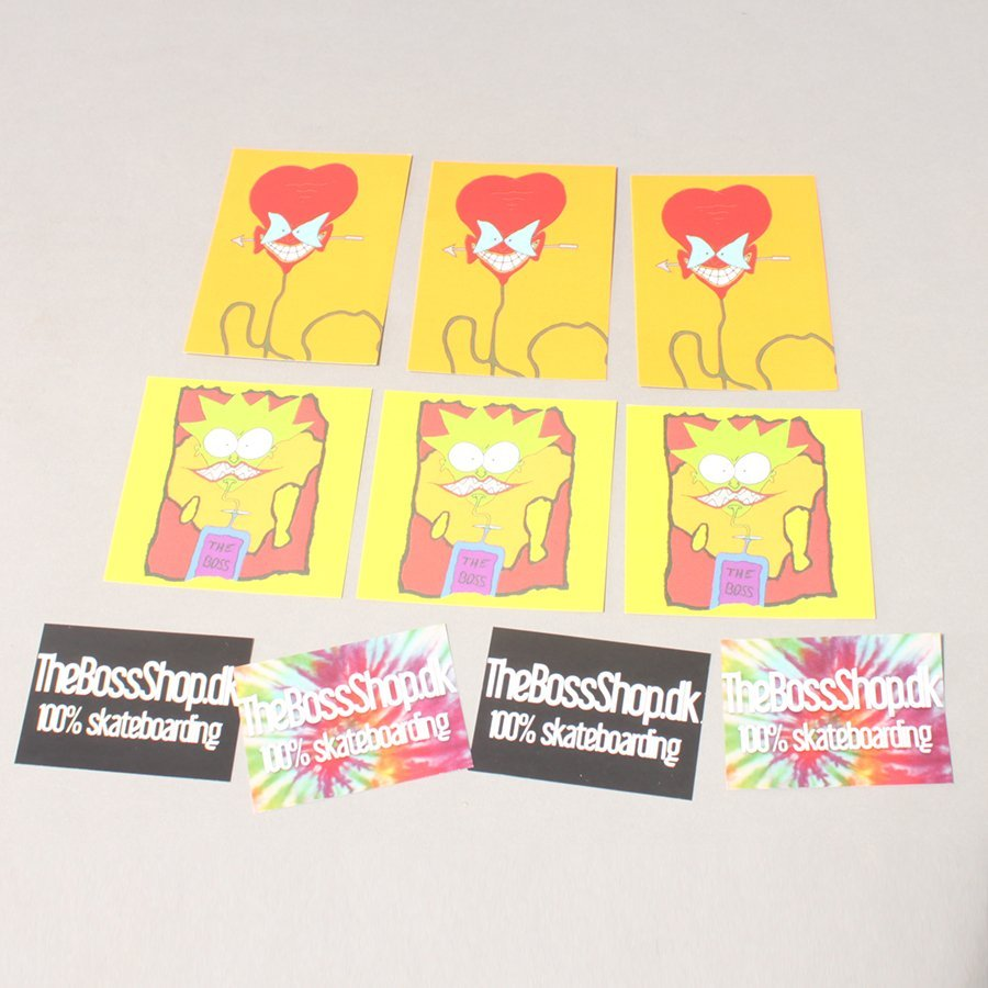 The Boss Sticker 10 Pack - Assorteret