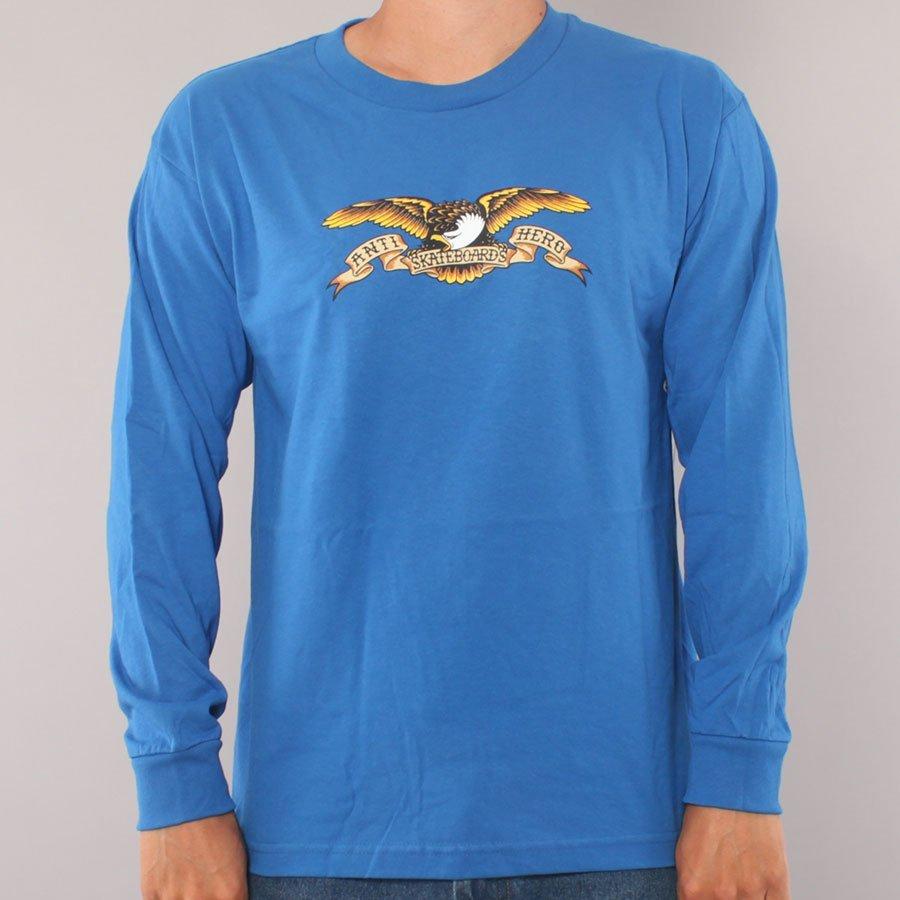 Anti Hero Eagle Youth LS T-shirt - Royal Blue-Youth Large