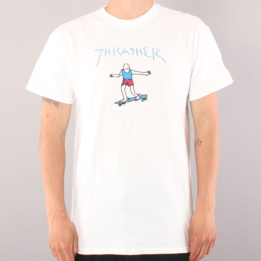 Thrasher Gonz T-shirt - White/Blue