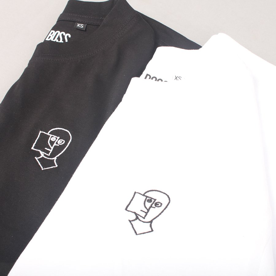 The Boss Shop Sketchy Embroidered T-shirt - White