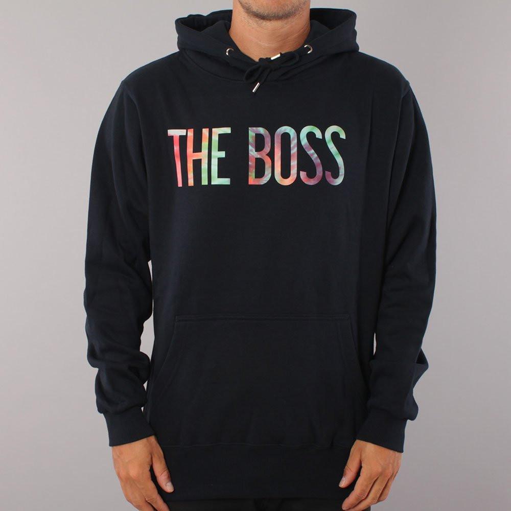 The Boss Tie Dye Logo Youth Hood - Navy