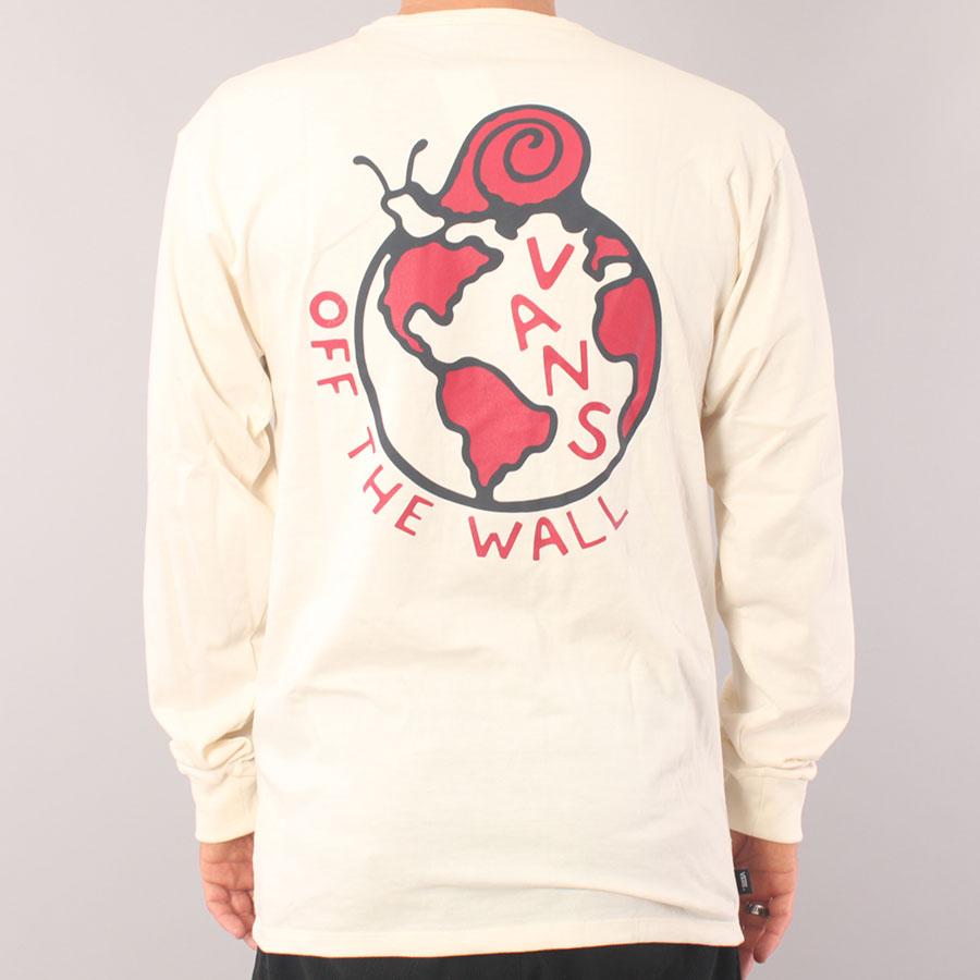 Vans Off The Wall Skate Worldwide LS T-shirt - Antique White