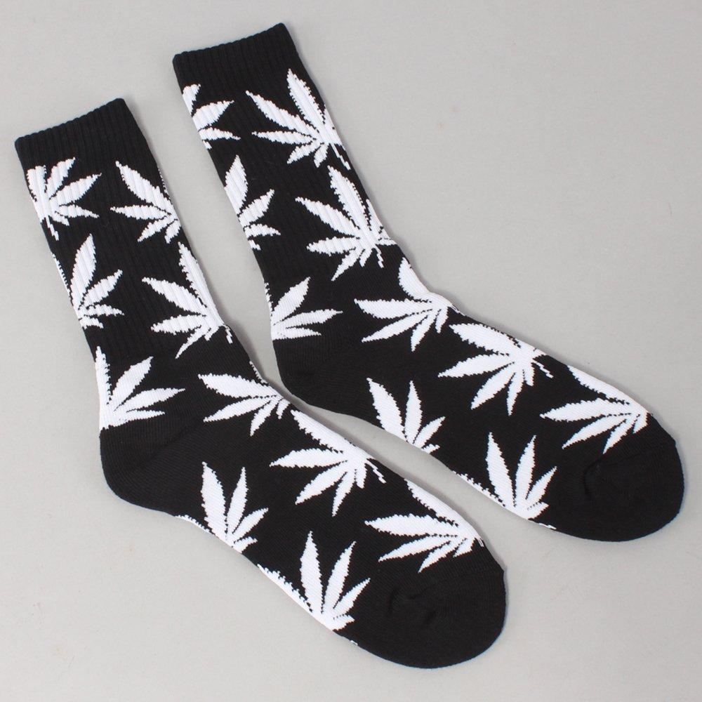 Huf Plantlife Crew Socks - Black/White